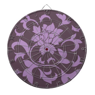 Oriental Flower - Lilac & Cherry Chocolate Dartboard