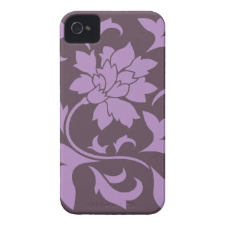 Oriental Flower - Lilac & Cherry Chocolate iPhone 4 Covers