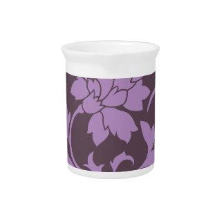Oriental Flower - Lilac & Cherry Chocolate Pitcher
