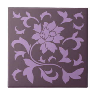 Oriental Flower - Lilac & Cherry Chocolate Tile