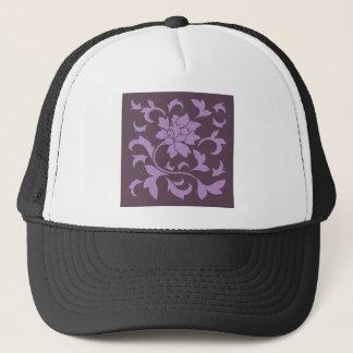Oriental Flower - Lilac & Cherry Chocolate Trucker Hat