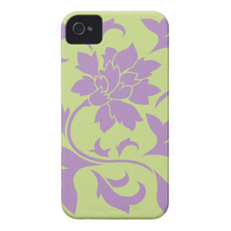 Oriental Flower - Lilac & Daiquiri Green iPhone 4 Cases