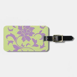 Oriental Flower - Lilac & Daiquiri Green Luggage Tag