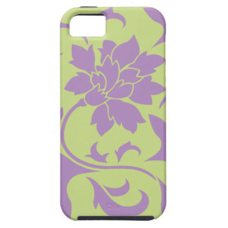 Oriental Flower - Lilac & Daiquiri Green Tough iPhone 5 Case