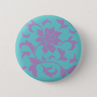 Oriental Flower - Lilac Mint 6 Cm Round Badge