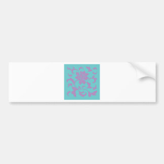 Oriental Flower - Lilac Mint Bumper Sticker
