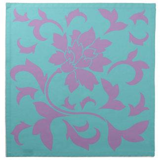 Oriental Flower - Lilac Mint Napkin