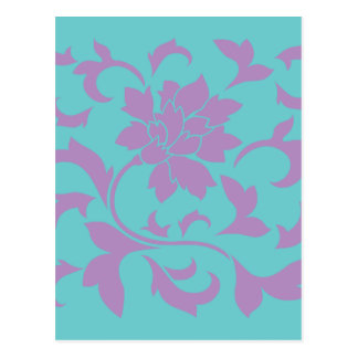 Oriental Flower - Lilac Mint Postcard