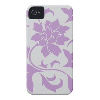Oriental Flower - Lilac Silver Case-Mate iPhone 4 Cases