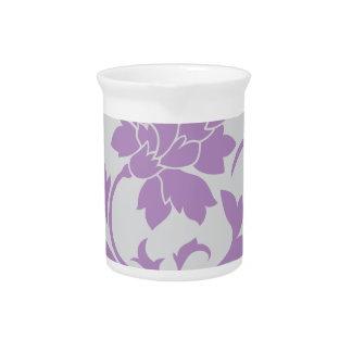 Oriental Flower - Lilac Silver Pitcher