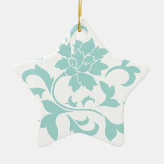 Oriental Flower - Limpet Shell Ceramic Star Decoration