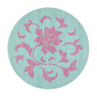 Oriental Flower - Limpet Shell Circular Cutting Board