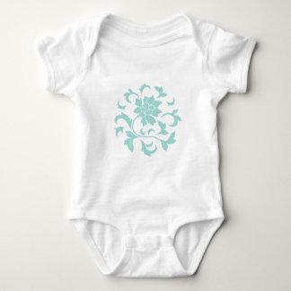 Oriental Flower - Limpet Shell Circular Pattern Baby Bodysuit