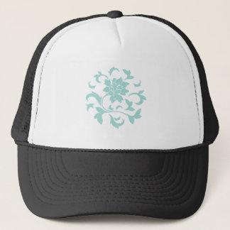 Oriental Flower - Limpet Shell Circular Pattern Trucker Hat
