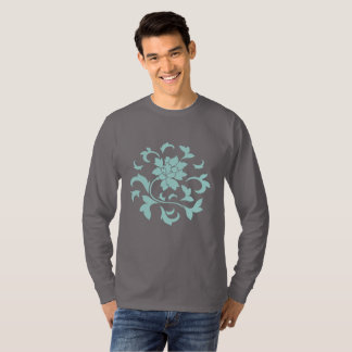 Oriental Flower-Limpet Shell-Dark Gray T-Shirt