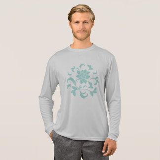 Oriental Flower-Limpet Shell-Gray T-Shirt