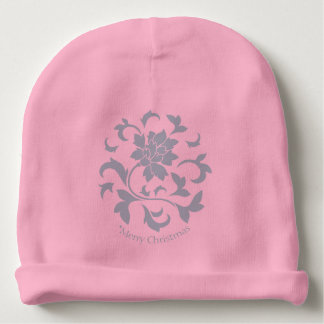 Oriental Flower-Limpet Shell-Merry Christmas-Pink Baby Beanie
