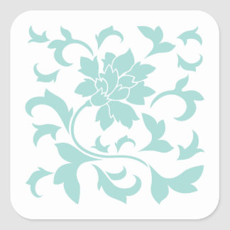 Oriental Flower - Limpet Shell Square Sticker