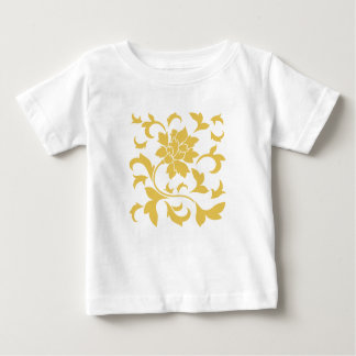 Oriental Flower - Mustard Yellow Baby T-Shirt
