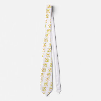 Oriental Flower - Mustard Yellow Tie
