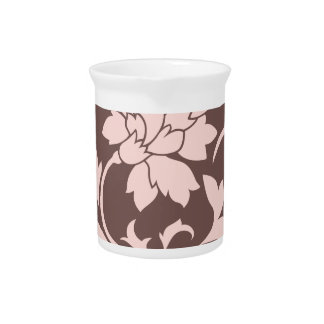 Oriental Flower - Rose Quartz & Chocolate Pitcher