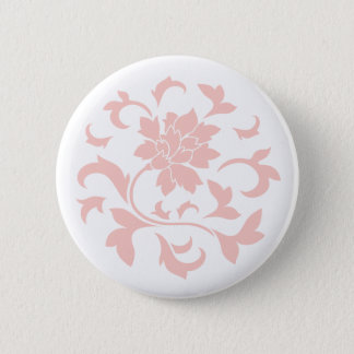 Oriental Flower - Rose Quartz Circular Pattern 6 Cm Round Badge