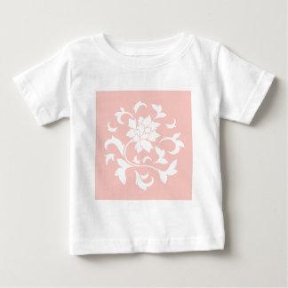 Oriental Flower - Rose Quartz Circular Pattern Baby T-Shirt