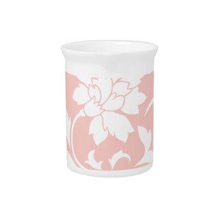 Oriental Flower - Rose Quartz Circular Pattern Pitcher