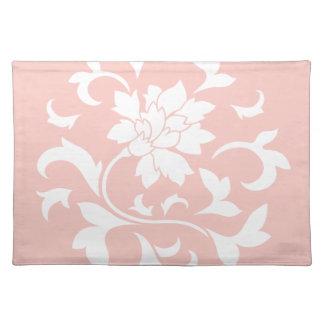 Oriental Flower - Rose Quartz Circular Pattern Placemat