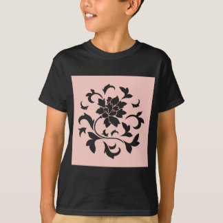 Oriental Flower - Rose Quartz Circular Pattern T-Shirt