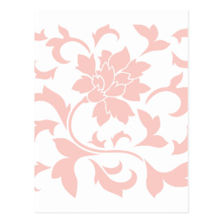 Oriental Flower - Rose Quartz Postcard