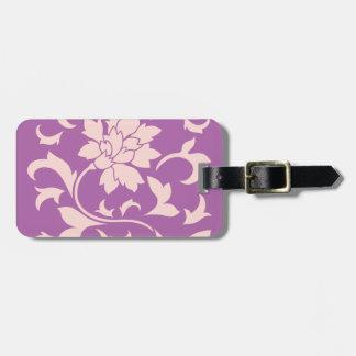 Oriental Flower - Rose Quartz & Radiant Orchid Luggage Tag