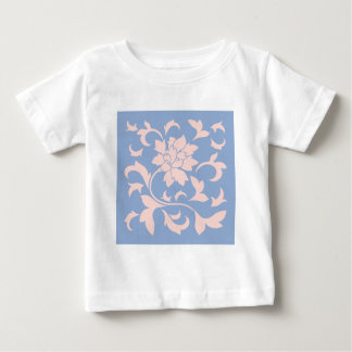 Oriental Flower - Rose Quartz & Serenity Blue Baby T-Shirt