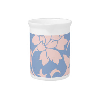 Oriental Flower - Rose Quartz & Serenity Blue Pitcher