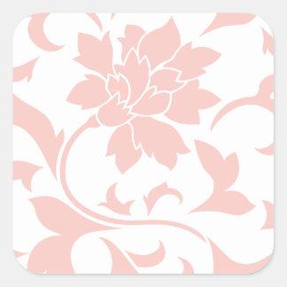 Oriental Flower - Rose Quartz Square Sticker