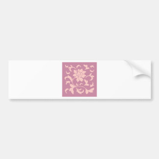 Oriental Flower - Rose Quartz & Strawberry Bumper Sticker