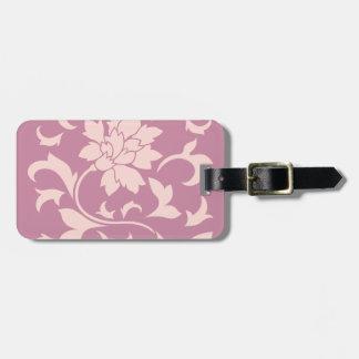 Oriental Flower - Rose Quartz & Strawberry Luggage Tag