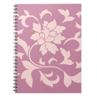 Oriental Flower - Rose Quartz & Strawberry Notebooks