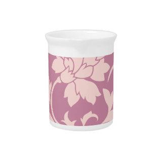 Oriental Flower - Rose Quartz & Strawberry Pitcher