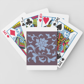 Oriental Flower - Serenity Blue & Cherry Chocolate Bicycle Playing Cards
