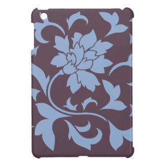 Oriental Flower - Serenity Blue & Cherry Chocolate Case For The iPad Mini