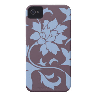 Oriental Flower - Serenity Blue & Cherry Chocolate iPhone 4 Covers