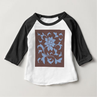 Oriental Flower - Serenity Blue & Chocolate Baby T-Shirt