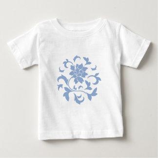Oriental Flower - Serenity Blue Circular Pattern Baby T-Shirt