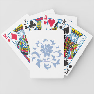 Oriental Flower - Serenity Blue Circular Pattern Bicycle Playing Cards