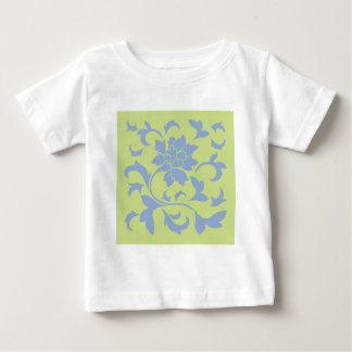 Oriental Flower - Serenity Blue & Daiquiri Green Baby T-Shirt