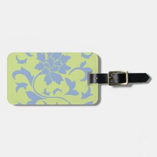 Oriental Flower - Serenity Blue & Daiquiri Green Luggage Tag