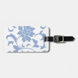 Oriental Flower - Serenity Blue Luggage Tag