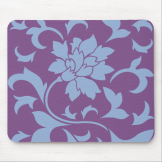 Oriental Flower - Serenity Blue Mouse Pad