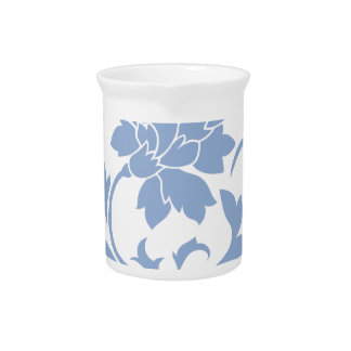 Oriental Flower - Serenity Blue Pitcher